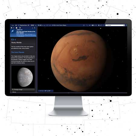 Starry Night College 7 Planet Mars Simulation